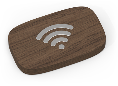 Wifi Porter Walnut/Stainless Steel