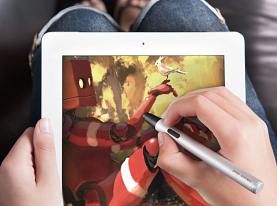 Curl up with your iPad.  Feat. 'Little Friend' by Goro Fujita