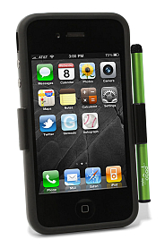iPhone 4 with Case and Cactus Stylus